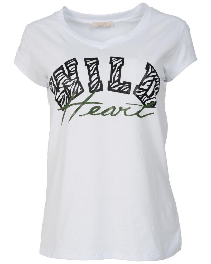 Gemma Ricceri Shirt wild heart wit/groen