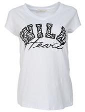 Gemma Ricceri Shirt wild heart wit/zwart