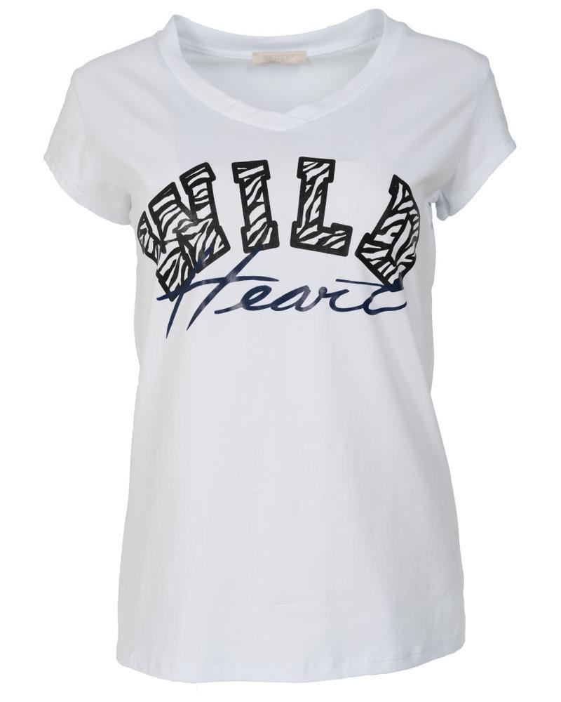 Gemma Ricceri Shirt wild heart wit/blauw
