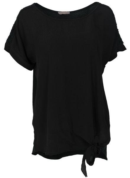 Gemma Ricceri Shirt Madelief knoop zwart