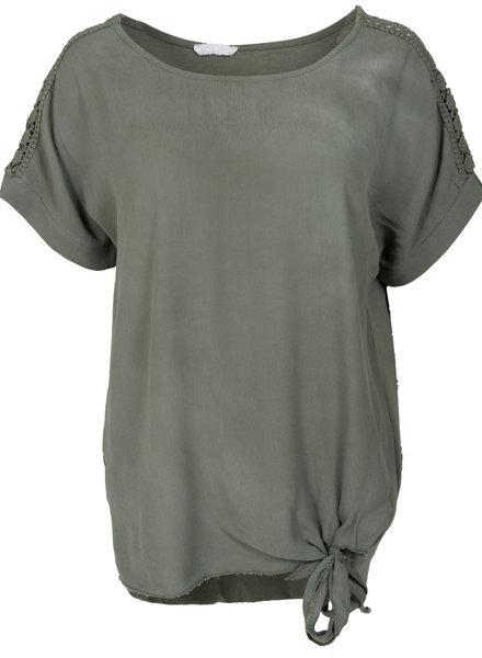 Gemma Ricceri Shirt Madelief knoop groen