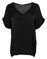 Gemma Ricceri Shirt silk touch v - hals zwart