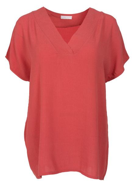 Gemma Ricceri Shirt V - hals Macy koraal