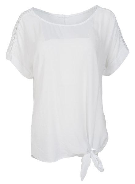 Gemma Ricceri Shirt Madelief knoop wit