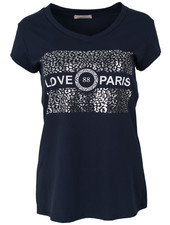 Gemma Ricceri Shirt love Paris blauw/wit