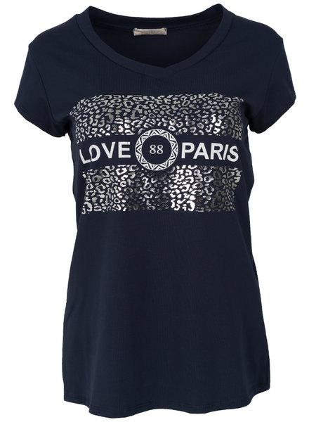 Gemma Ricceri Shirt love Paris blauw/wit