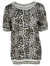 Gemma Ricceri Shirt Loes panterprint zwart/groen
