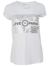 Gemma Ricceri Shirt love Paris wit/groen