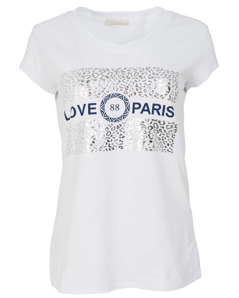 Gemma Ricceri Shirt love Paris wit/blauw