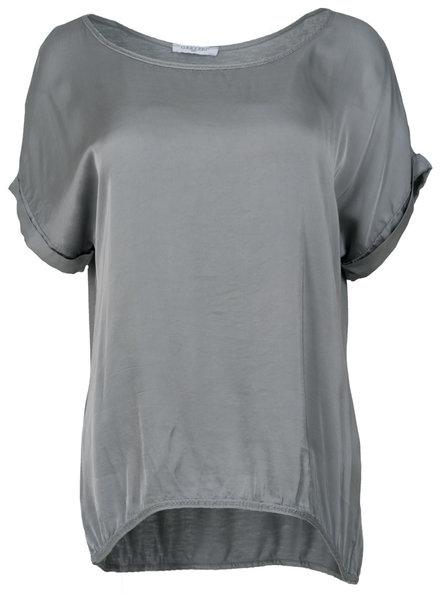 Gemma Ricceri Shirt silk touch grijs