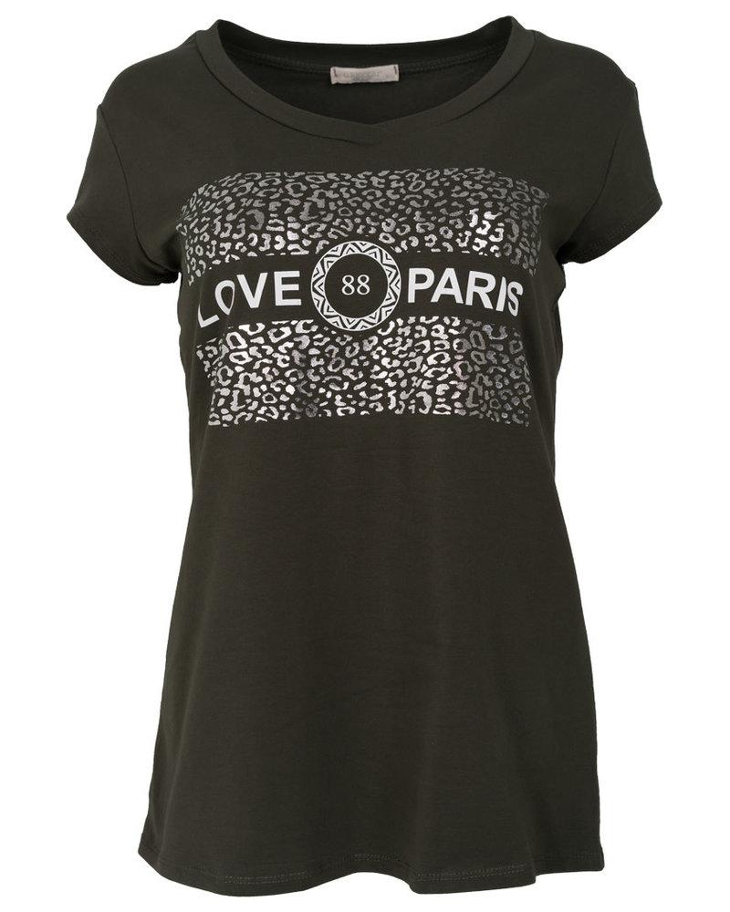 Gemma Ricceri Shirt love Paris groen/wit