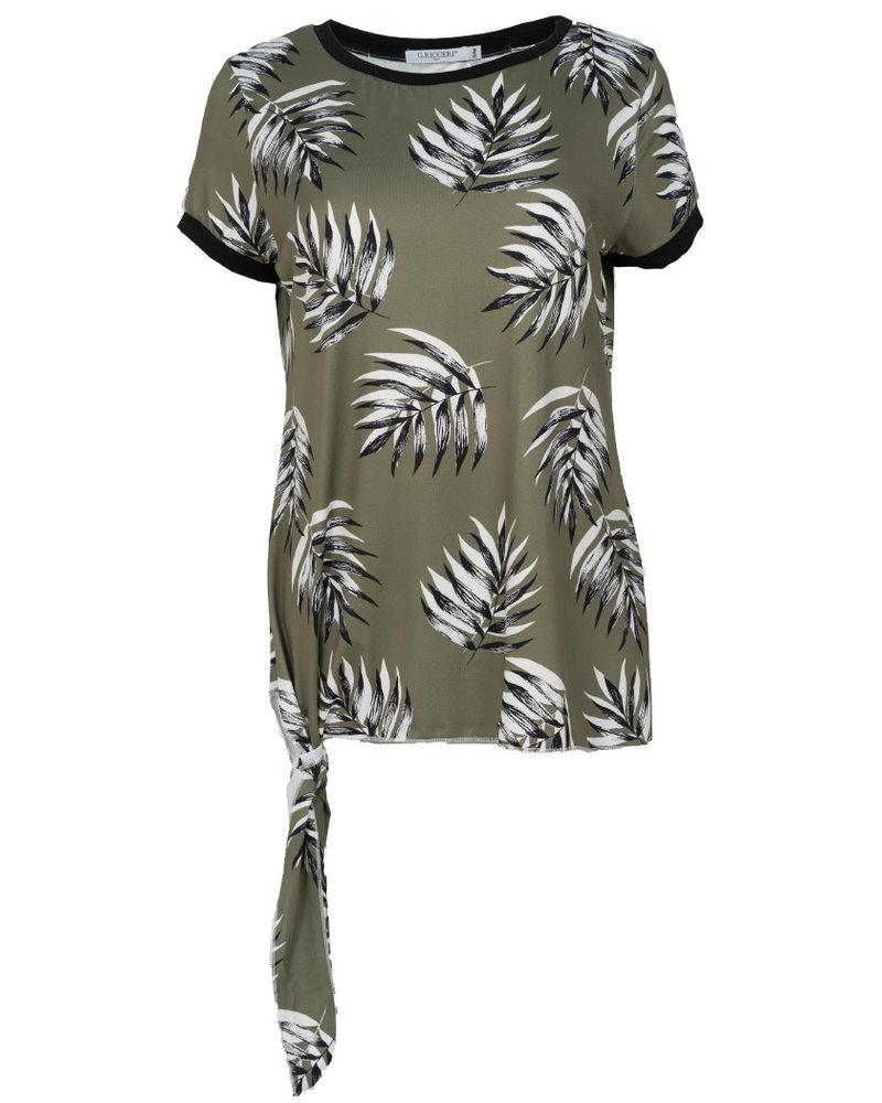 Gemma Ricceri Shirt Lydia groen/wit