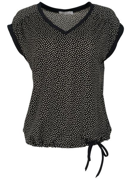 Gemma Ricceri Shirt travel stip zwart