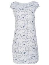 Gemma Ricceri Jurk linnen bloem wit