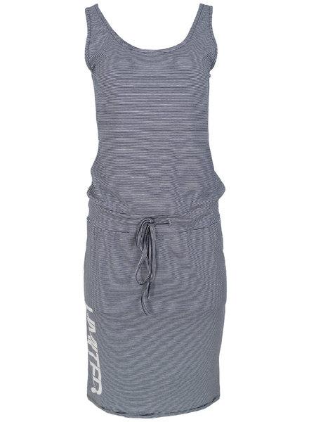 Gemma Ricceri Jurk streep limited blauw/wit