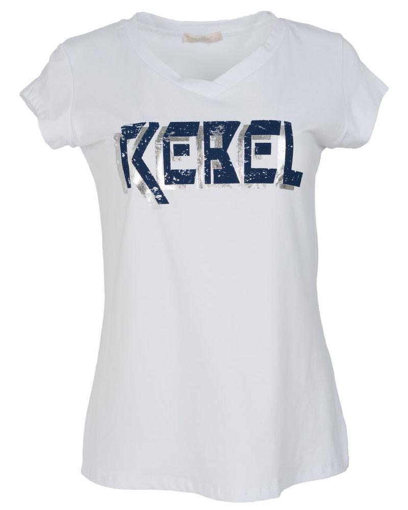 Gemma Ricceri Shirt Rebel wit/blauw