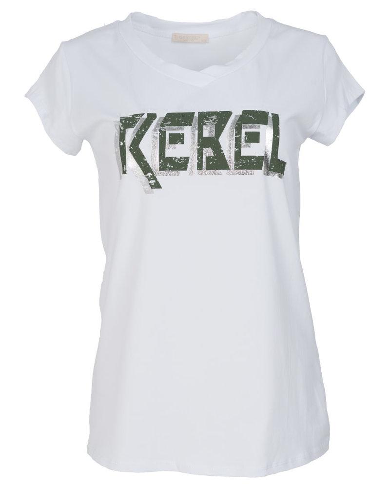 Gemma Ricceri Shirt Rebel wit/groen