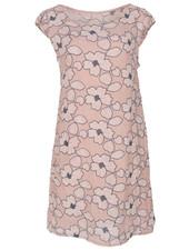 Gemma Ricceri Jurk linnen bloem roze