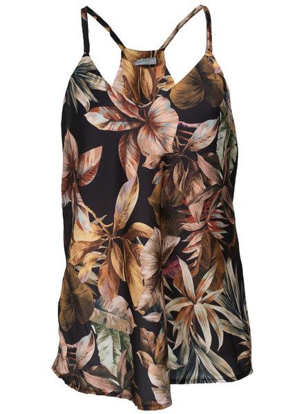 Gemma Ricceri Top Flora print zwart