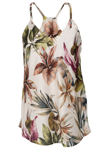Gemma Ricceri Top Flora print off-white
