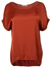 Gemma Ricceri Shirt silk touch roestbruin