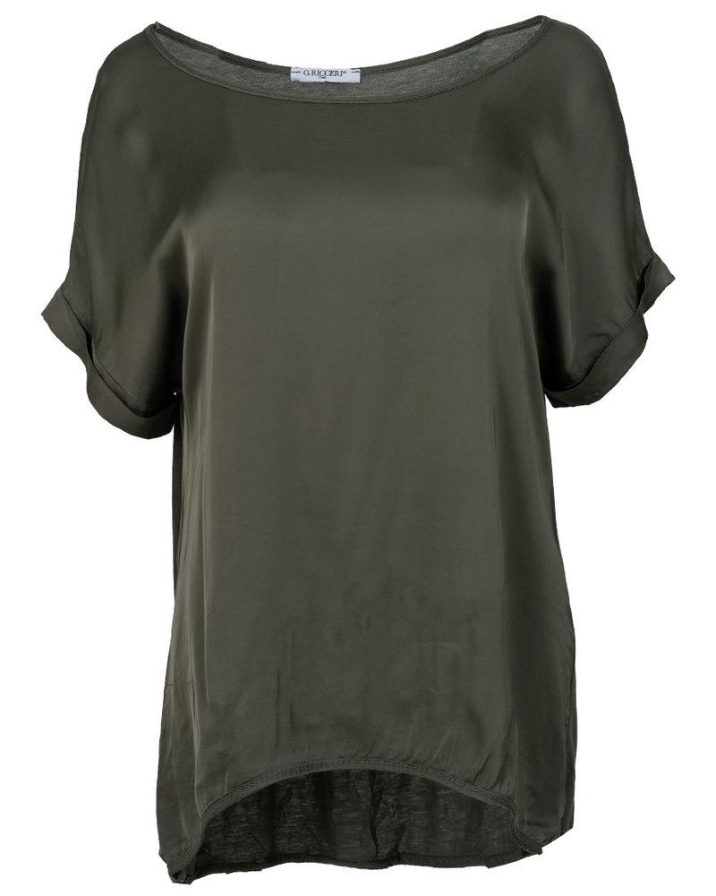 Gemma Ricceri Shirt silk touch donker groen