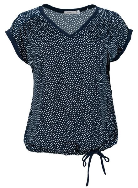 Vera Jo Shirt travel stip blauw