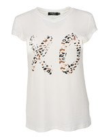 Rebelz Collection Shirt XO wit/bruin