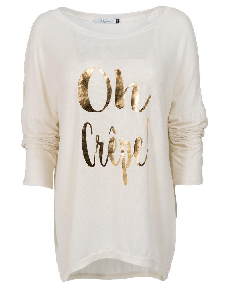 Gemma Ricceri Shirt Oh crepe off-white