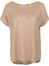 Gemma Ricceri Shirt one of a kind beige/goud