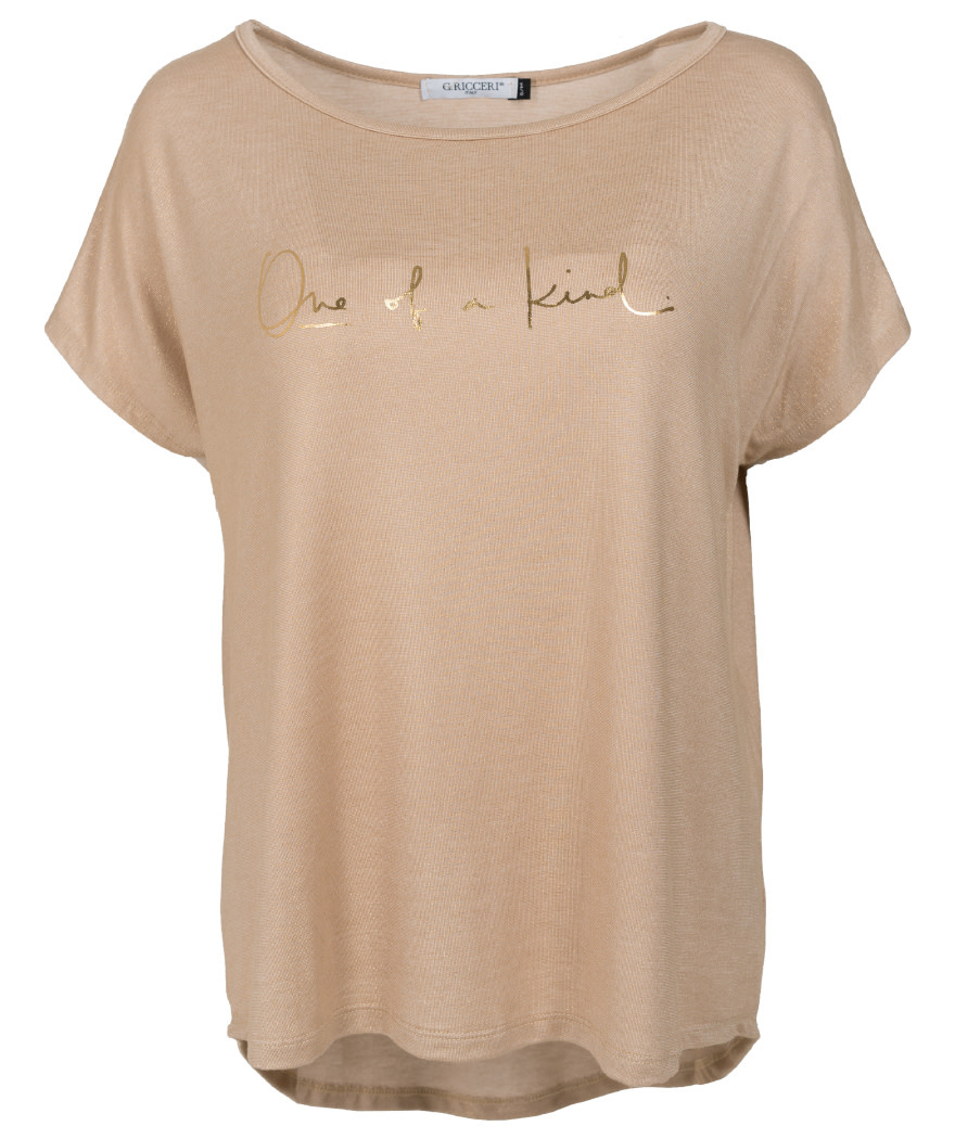 Gemma Ricceri Shirt one of a kind beige/goud