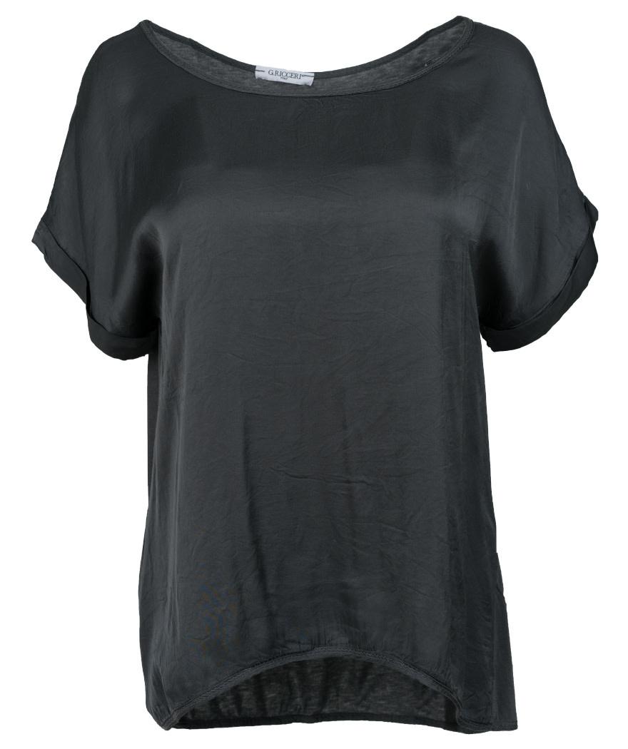 Gemma Ricceri Shirt silk touch antraciet