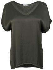 Gemma Ricceri Shirt silk touch v - hals groen