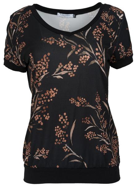 Gemma Ricceri Shirt Kelly zwart/camel