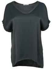 Gemma Ricceri Shirt silk touch v hals antraciet