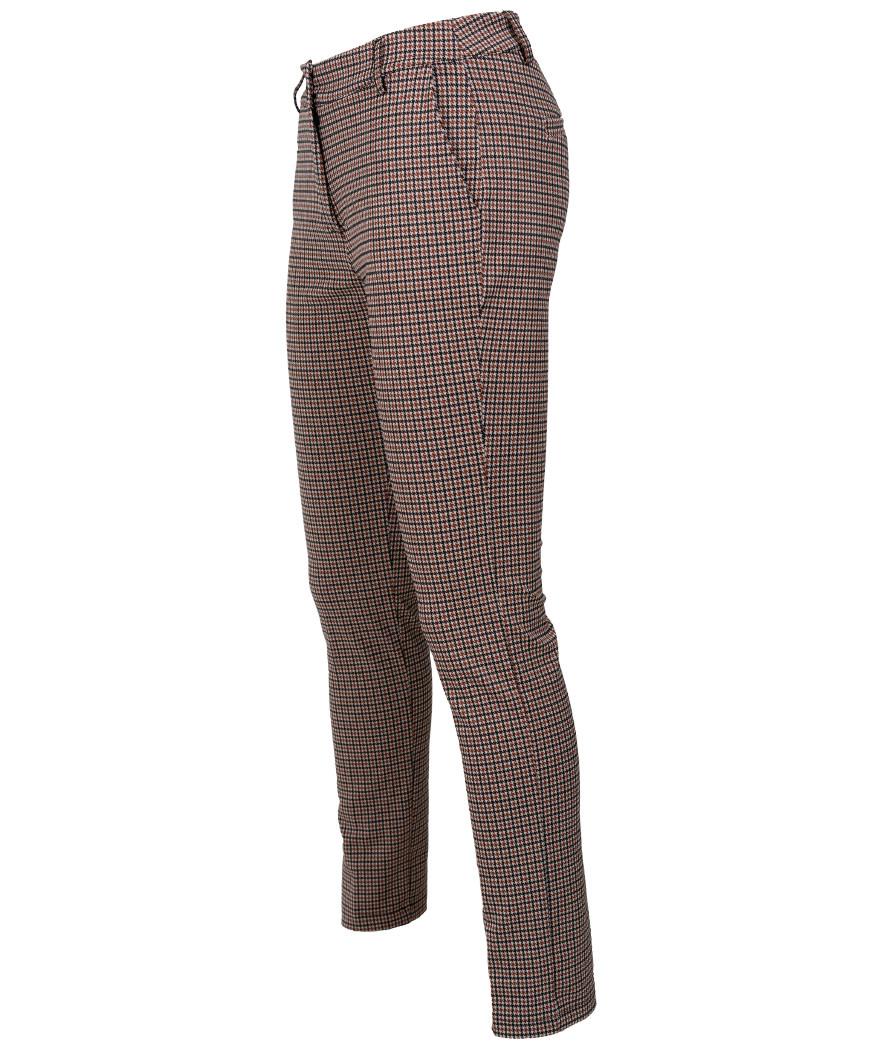Gemma Ricceri Pantalon Irma roestbruin/zwart