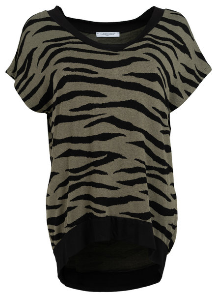 Gemma Ricceri Shirt Tini zebra zwart/groen