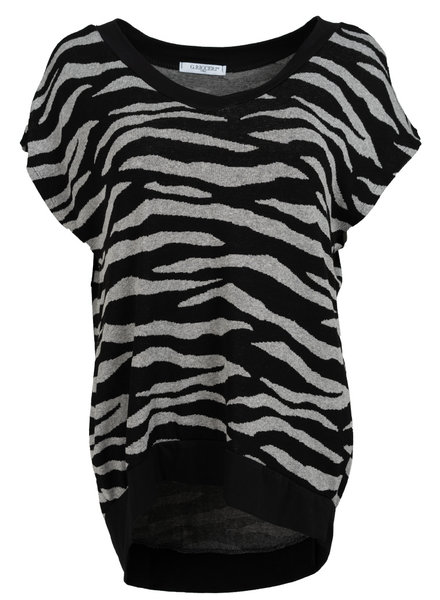 Gemma Ricceri Shirt Tini zebra zwart/grijs