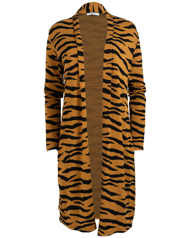 Gemma Ricceri Vest Tini zebra zwart/okergeel