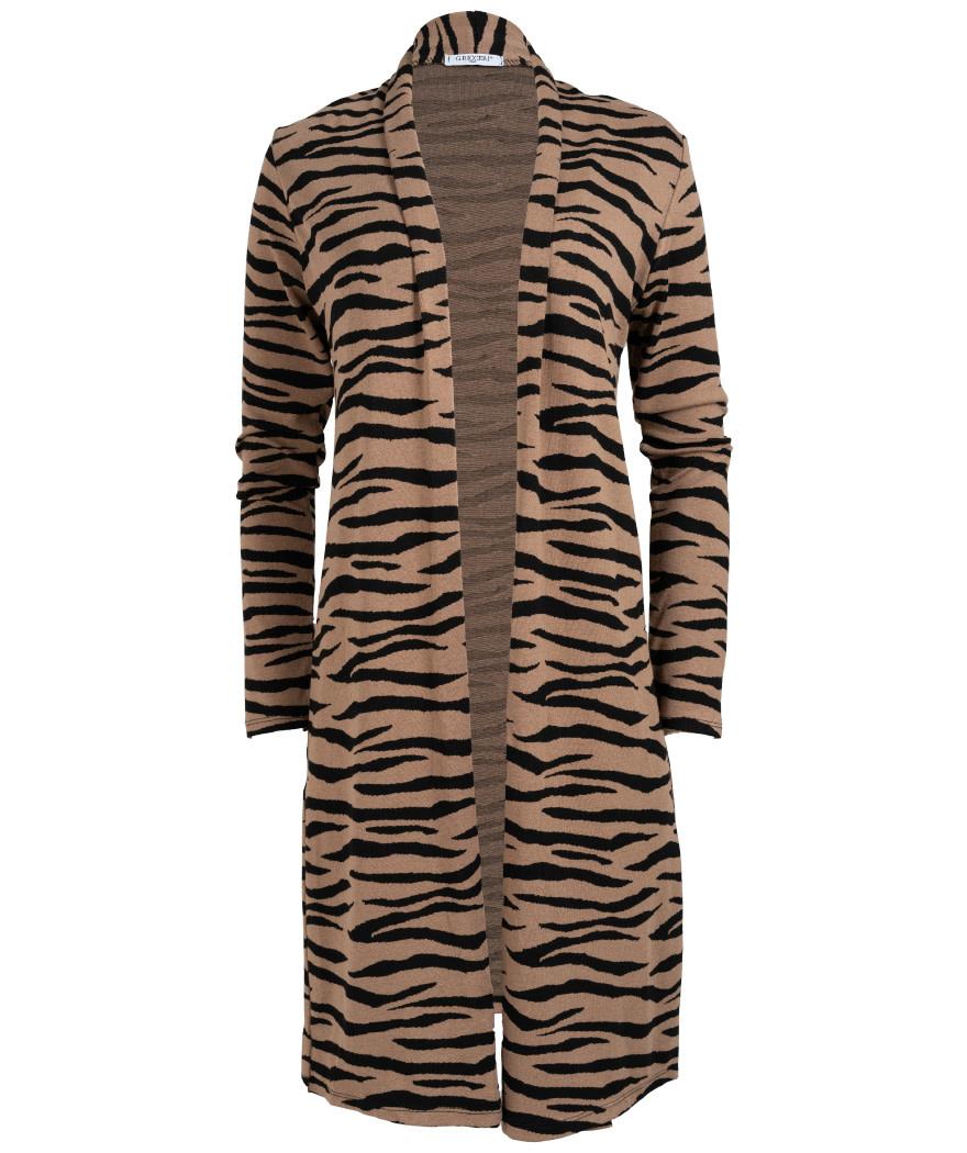 Gemma Ricceri Vest Tini zebra zwart/camel