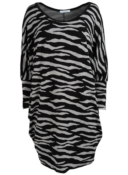 Gemma Ricceri Tuniek Tini zebra zwart/grijs