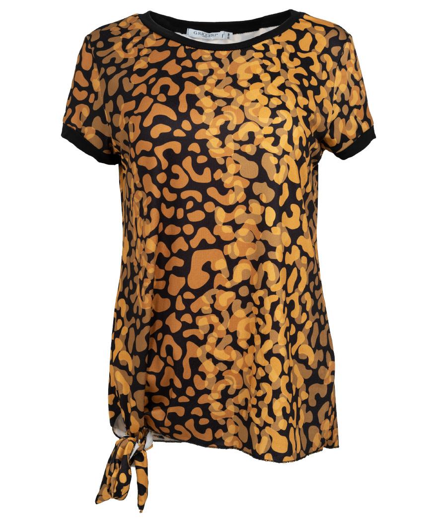 Gemma Ricceri Shirt Nancy zwart/okergeel