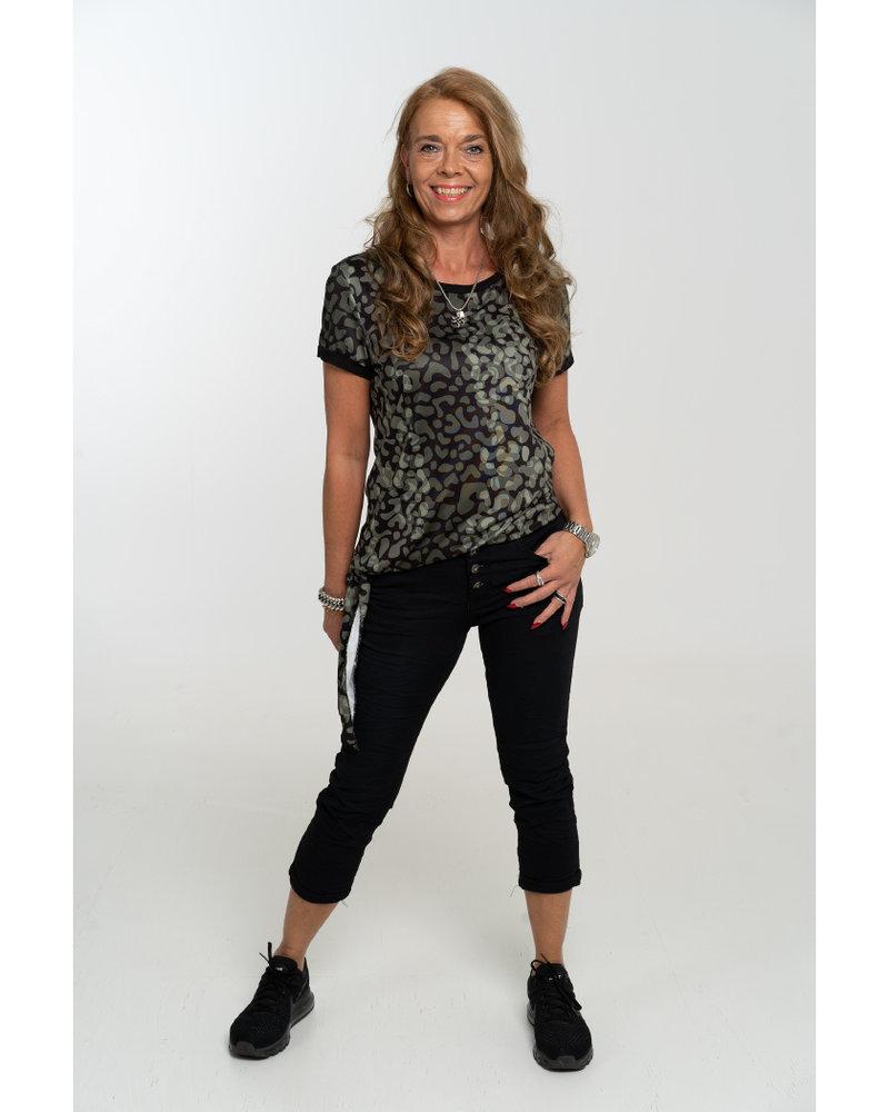 Gemma Ricceri Shirt Nancy zwart/groen