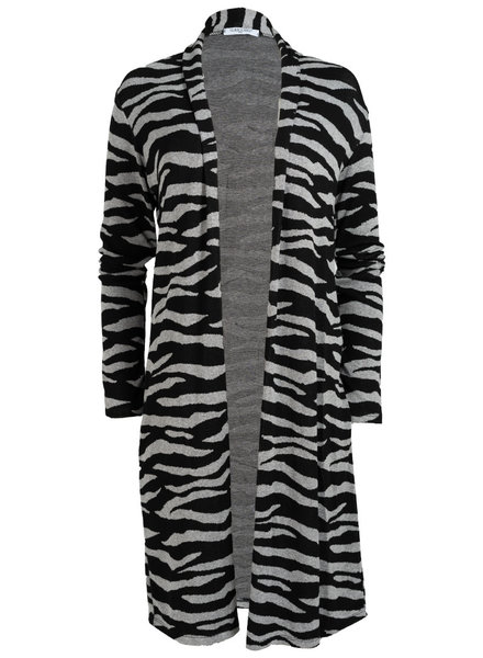 Gemma Ricceri Vest Tini zebra zwart/grijs