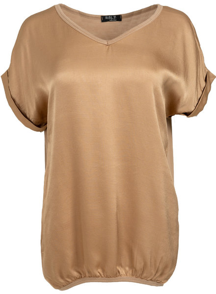 Rebelz Collection Shirt Mia v hals camel