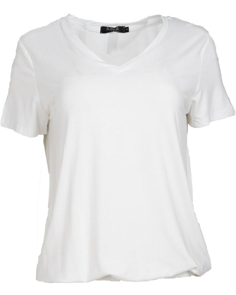 Rebelz Collection Shirt Rebelz wit/blauw