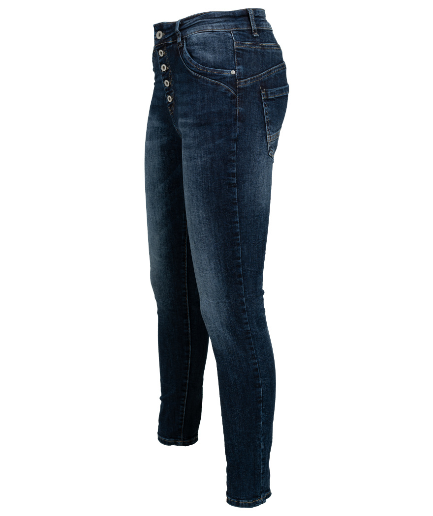 Melly&Co Jeans Terry blauw
