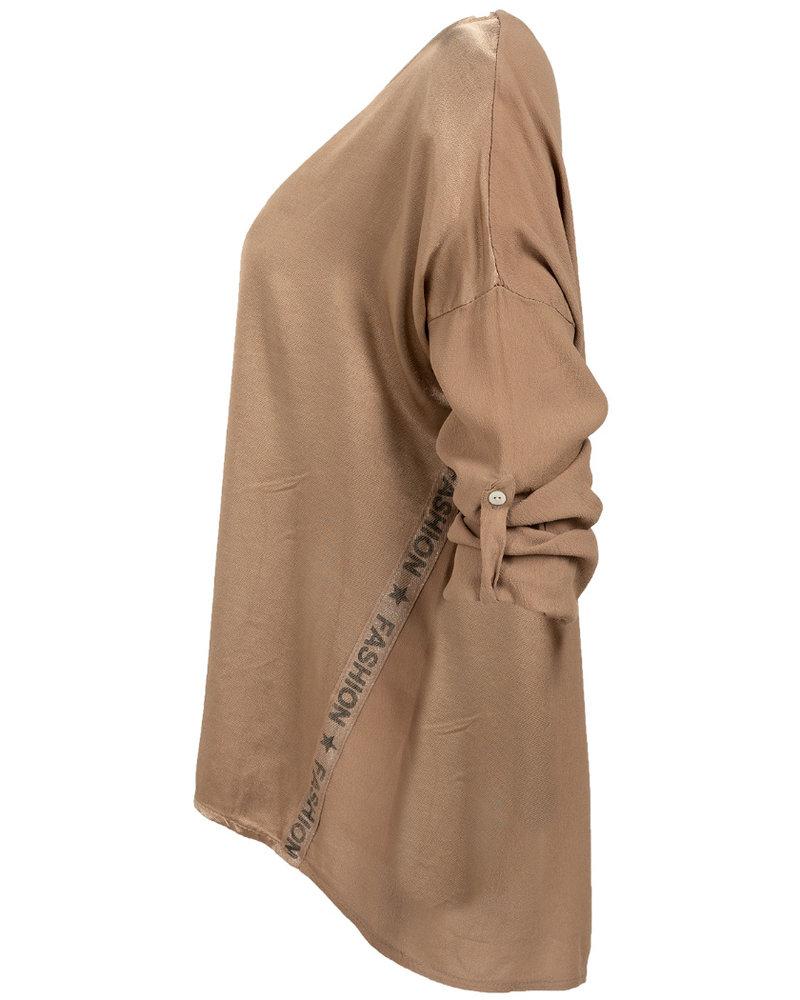 Gemma Ricceri Blouse zijde Nora camel