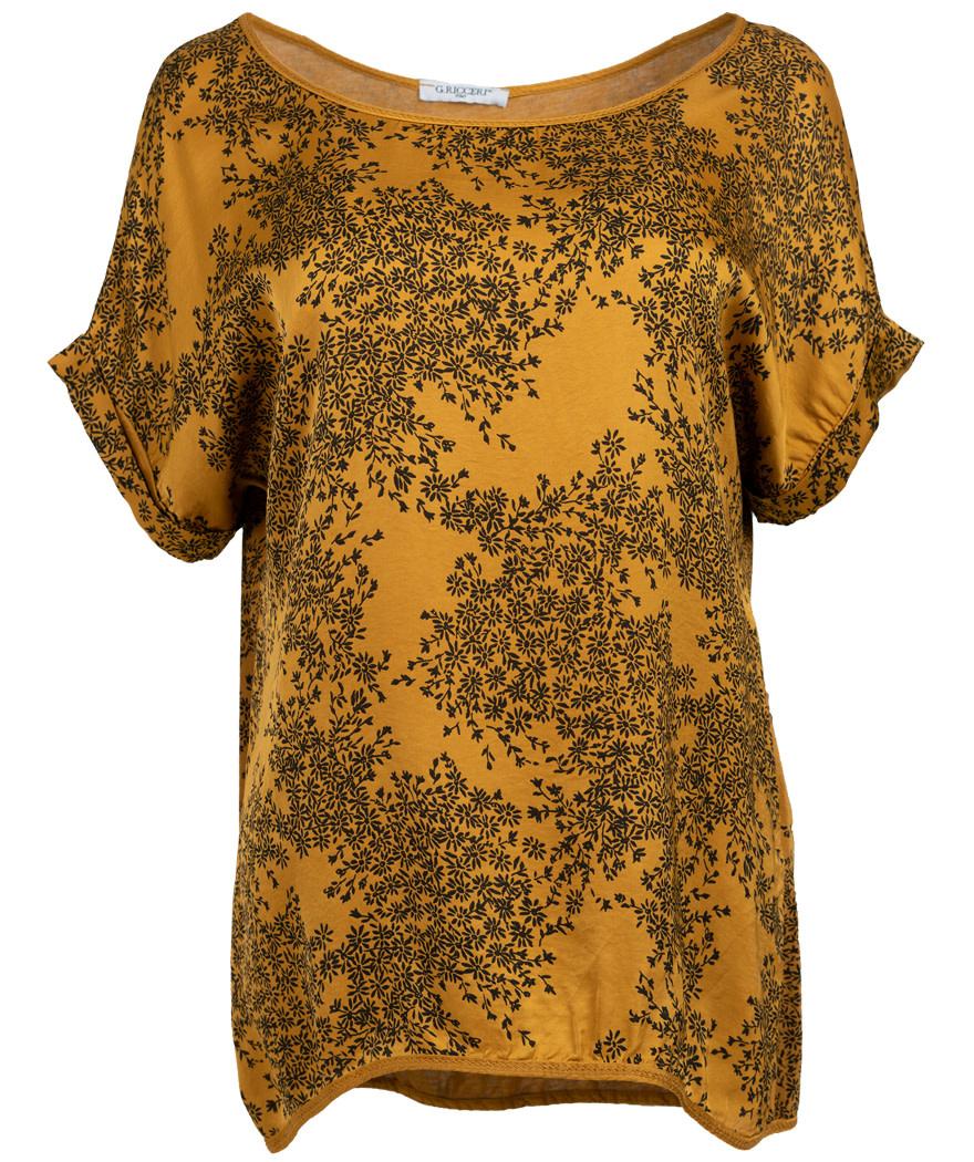 Gemma Ricceri Shirt silk touch Ria okergeel