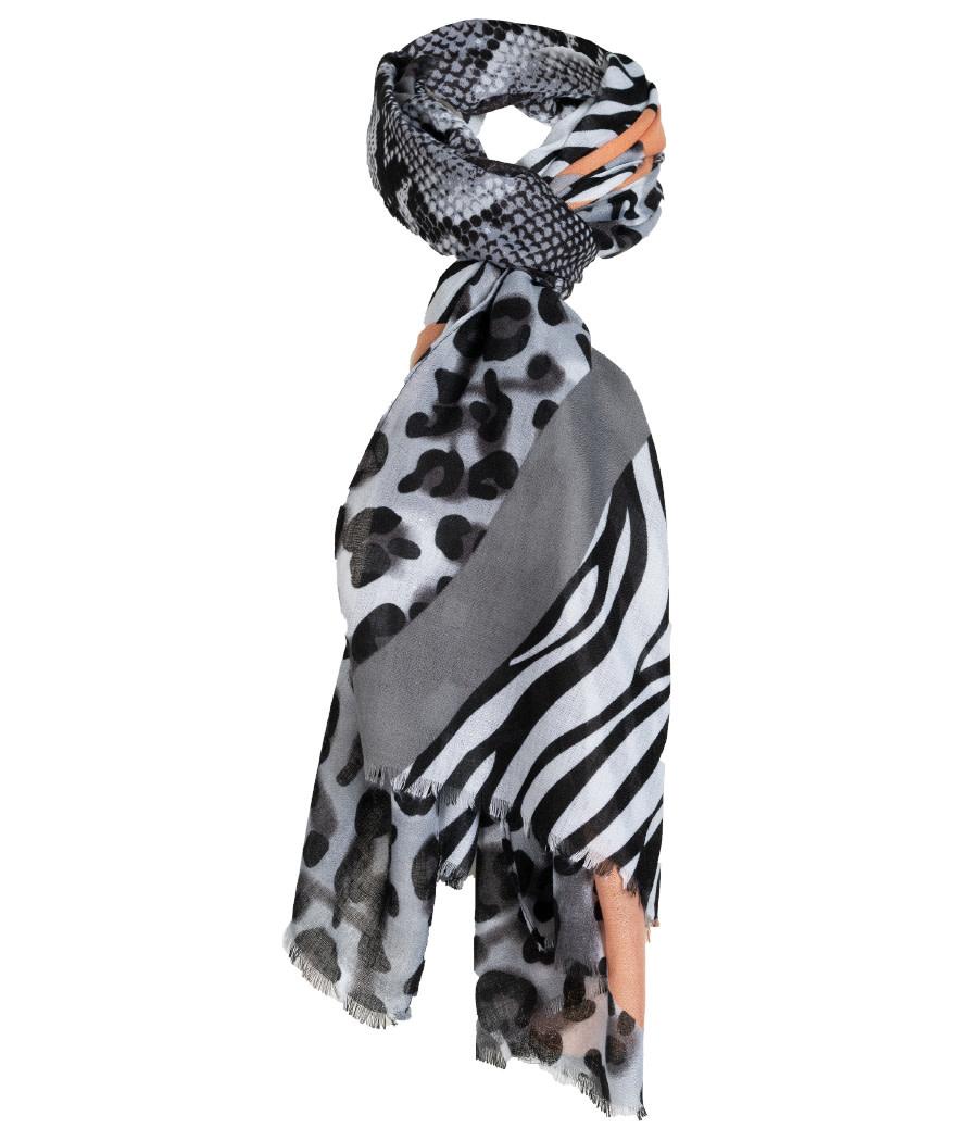Wannahavesfashion Sjaal Bo zwart/camel